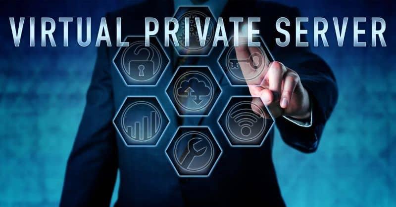 VPS Virtual Private Server fondo oscuro