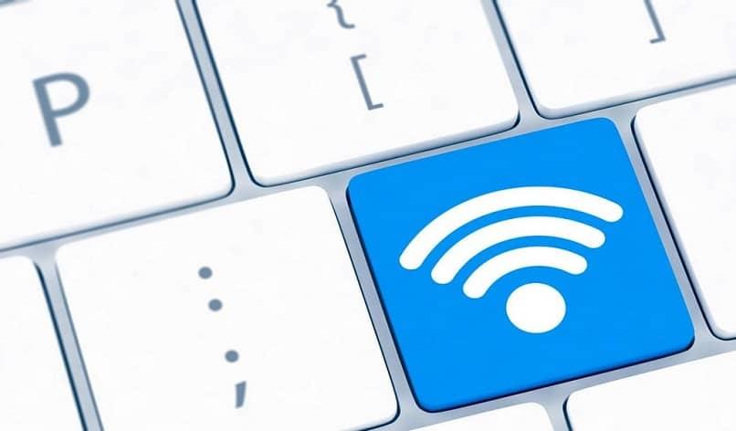 clave wifi blanca y azul