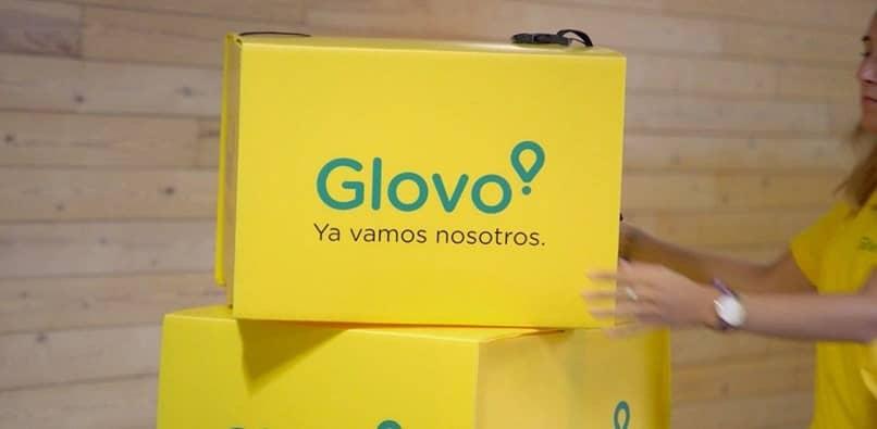 cajas de mano glovo